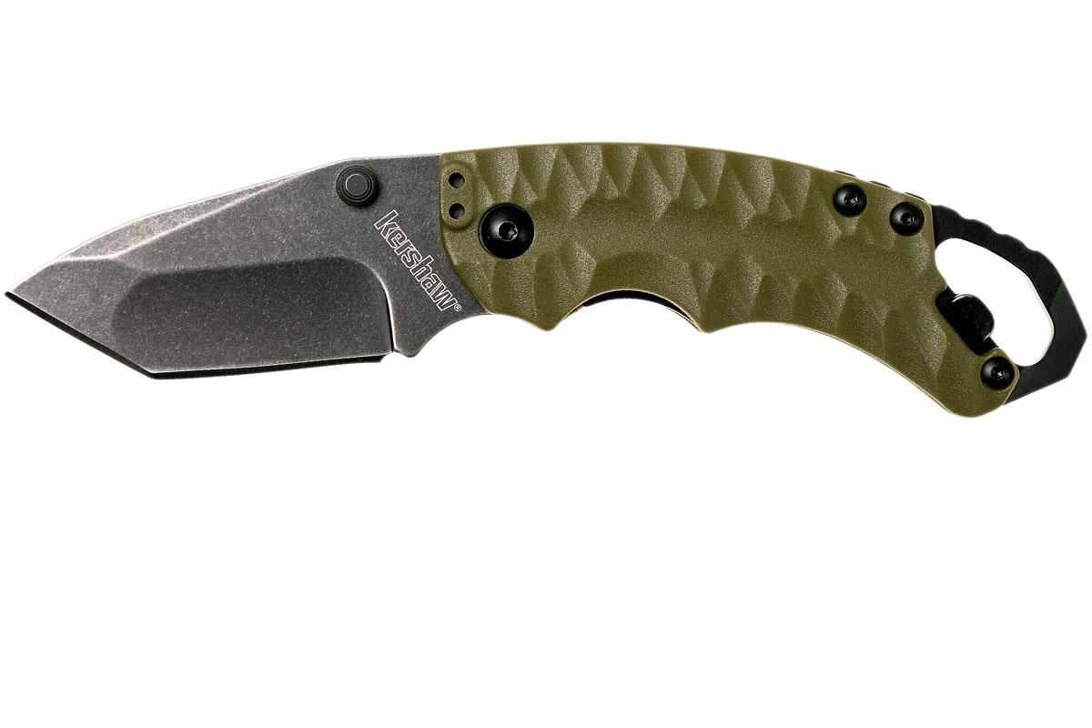 Фото 11 - Складной нож Shuffle II - KERSHAW 8750TOLBW, сталь 8Cr13MoV black-oxide BlackWash™, оливковая рукоять из пластика GFN