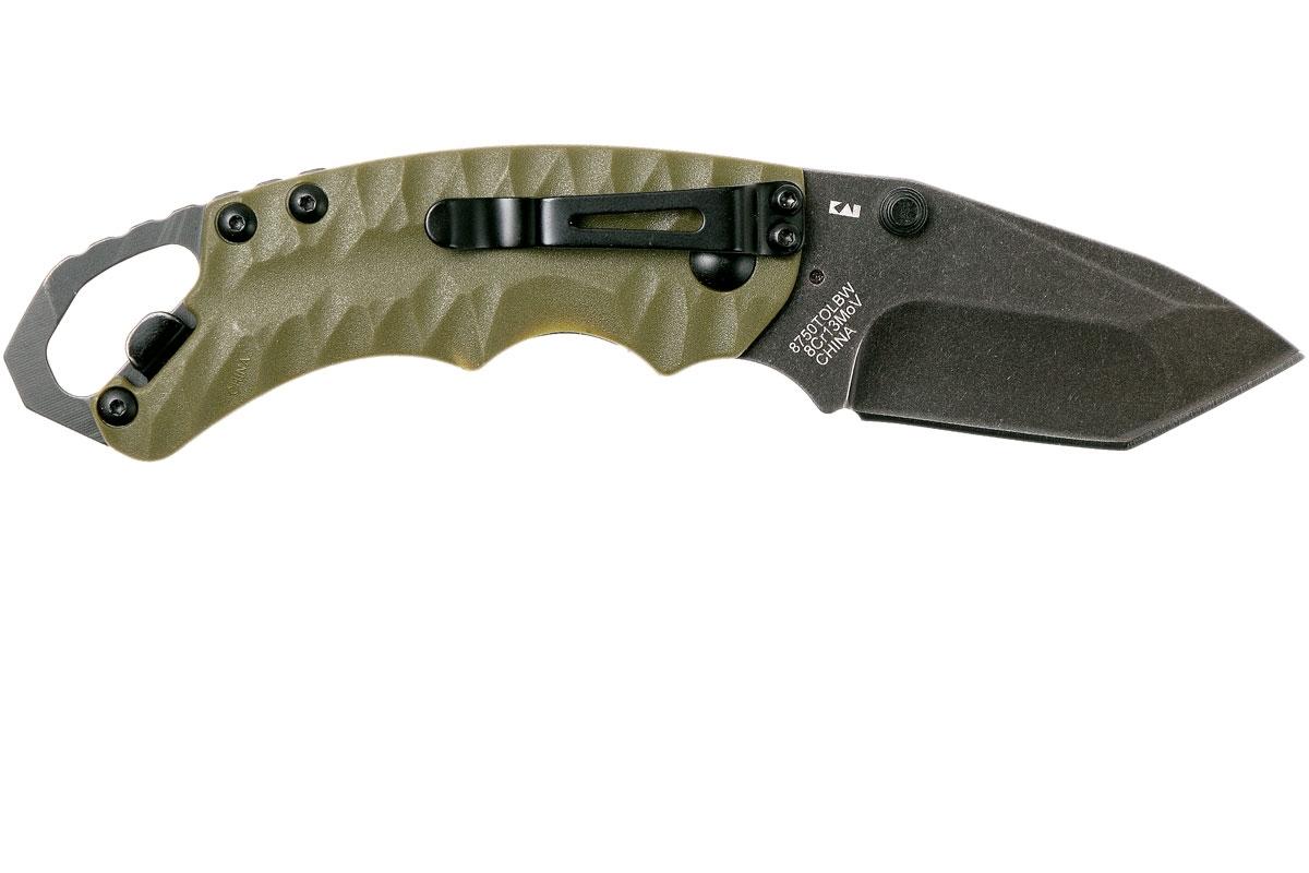 Фото 12 - Складной нож Shuffle II - KERSHAW 8750TOLBW, сталь 8Cr13MoV black-oxide BlackWash™, оливковая рукоять из пластика GFN