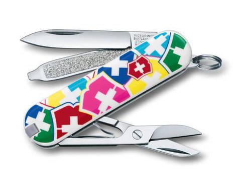 Нож перочинный Victorinox Classic VX Colors 0.6223.841 58мм 7 функций дизайн Цвета Victorinox - Nozhikov.ru