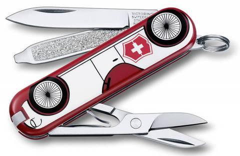 Нож перочинный Victorinox Classic Машина (0.6223.L1410) белый/красный 7 функций пластик/сталь - Nozhikov.ru