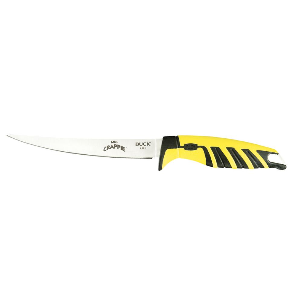 Фото 6 - Нож Mr. Crappie Slab Shaver 6'' - BUCK 0233YWS, сталь 420J2, рукоять термопластик