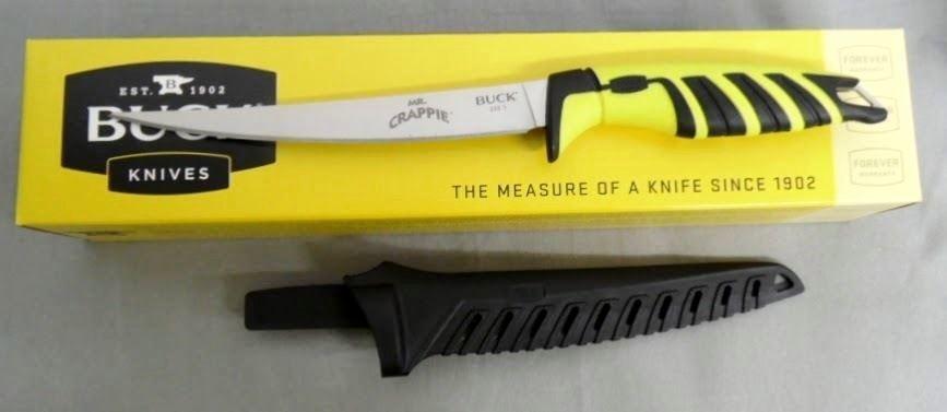 Фото 8 - Нож Mr. Crappie Slab Shaver 6'' - BUCK 0233YWS, сталь 420J2, рукоять термопластик