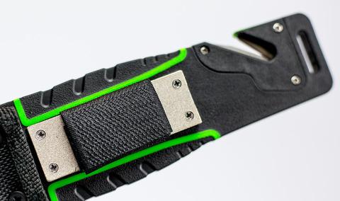 Нож для выживания с огнивом и точилкой Ganzo G8012, зеленый. Вид 8