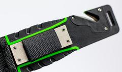 Нож для выживания с огнивом и точилкой Ganzo G8012, зеленый, фото 8