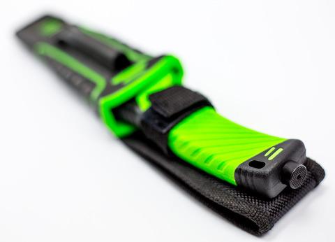 Нож для выживания с огнивом и точилкой Ganzo G8012, зеленый. Вид 3