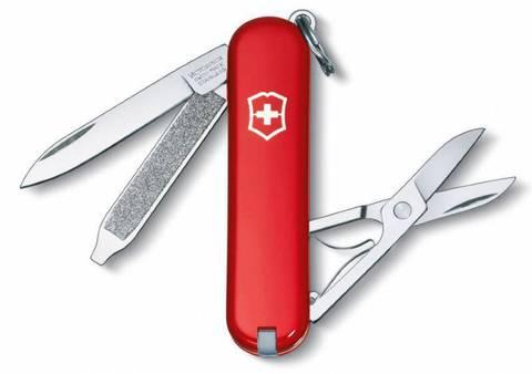 Нож перочинный Victorinox Classic 0.6223 58 мм 7 функций красный - Nozhikov.ru