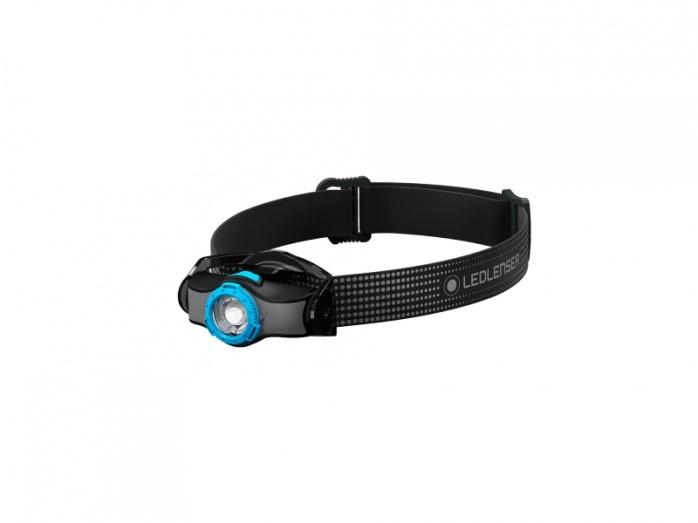Фото - Фонарь светодиодный налобный LED Lenser MH3, черно-голубой, 200 лм, 1-АА налобный фонарь mh3 черный с серым