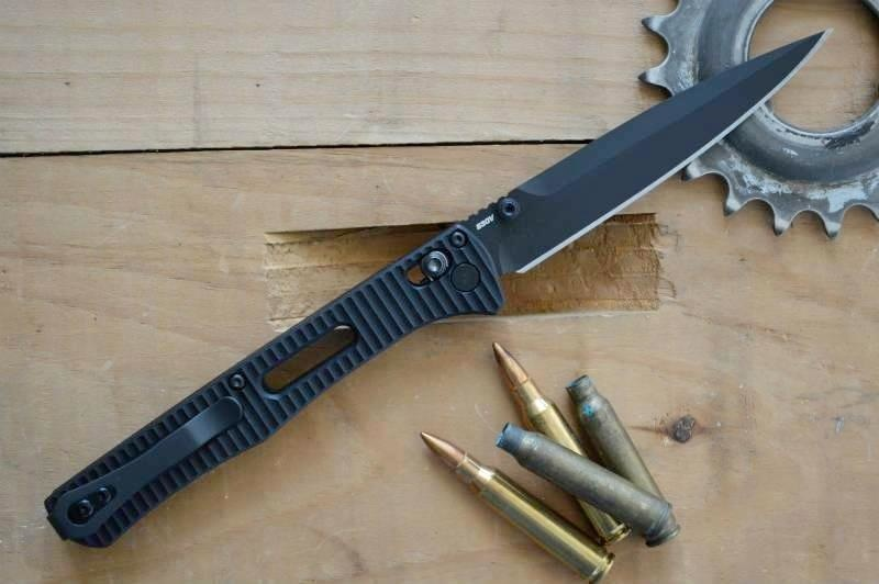 Фото 7 - Складной нож Benchmade Fact 417BK, сталь S30V, алюминий, черное лезвие