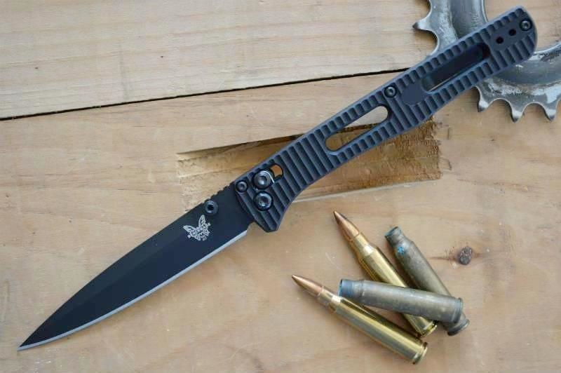 Фото 8 - Складной нож Benchmade Fact 417BK, сталь S30V, алюминий, черное лезвие