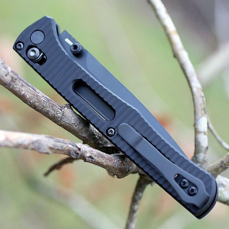 Фото 9 - Складной нож Benchmade Fact 417BK, сталь S30V, алюминий, черное лезвие