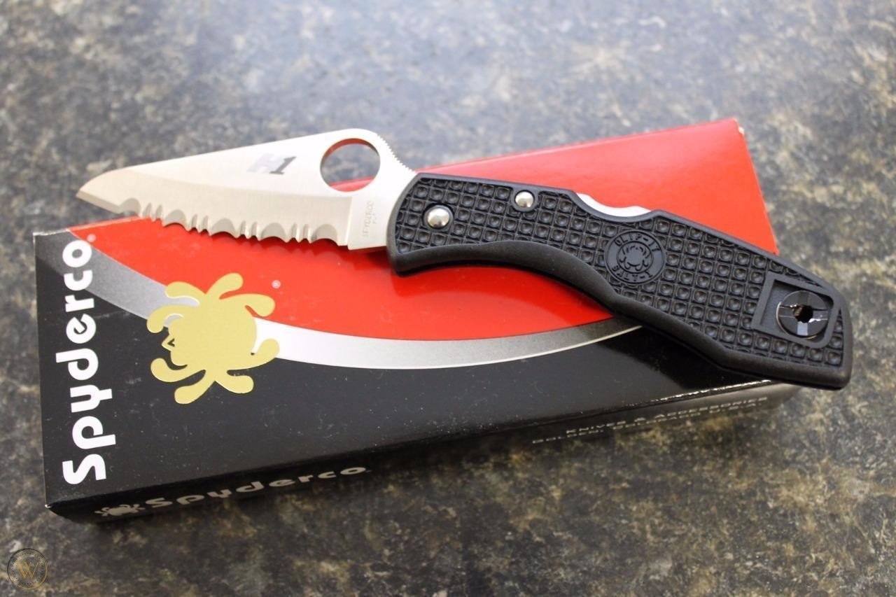 Фото 10 - Нож складной Salt 1 - Spyderco C88SBK, сталь H1 Satin Serrated, рукоять термопластик FRN, чёрный
