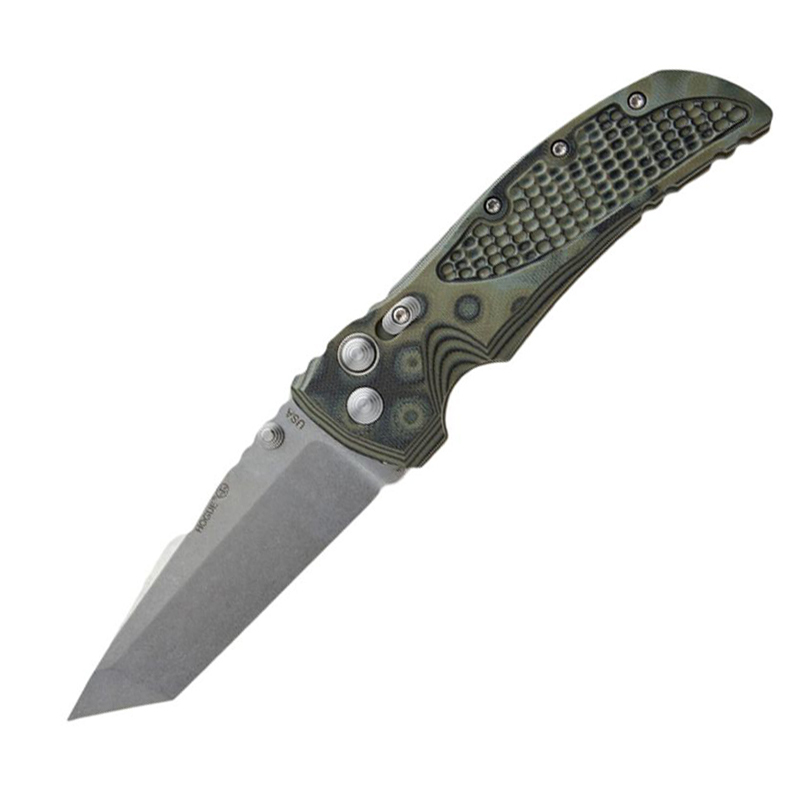 Нож складной Hogue EX-01 Auto Tanto, сталь 154CM, рукоять стеклотекстолит G-Mascus®, серо-зеленый
