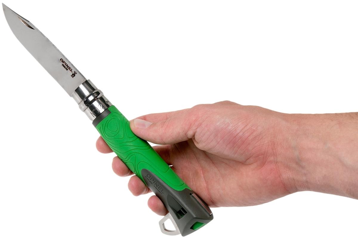 Фото 7 - Складной нож Opinel №12 Explore, нержавеющая сталь Sandvick 12C27, рукоять термопластик, зеленый