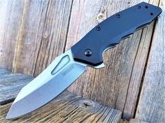 Складной нож Flitch KERSHAW 3930, сталь лезвия 8Cr13MoV Stonewashed, рукоять термопластик GFN, фото 1