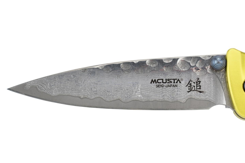 Фото 11 - Складной нож Mcusta Tsuchi MC-164D, сталь VG-10 в обкладах из дамаска, рукоять алюминий