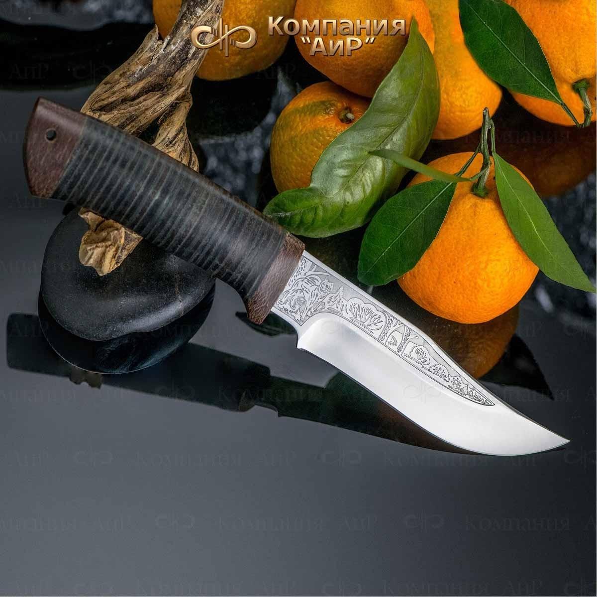 Нож АиР Клычок-1, сталь К-340, рукоять кожа