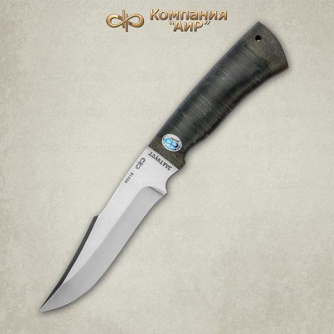 Нож Хазар, АиР, кожа, 95х18. Вид 2