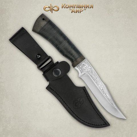 Нож Хазар, АиР, кожа, 95х18. Вид 5