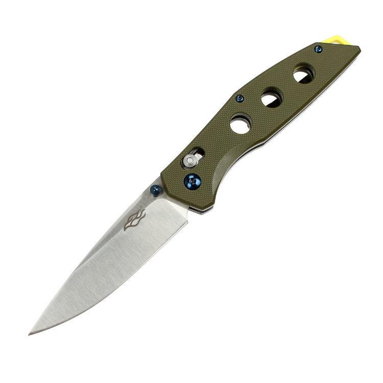 Нож складной Firebird (by Ganzo), FB7621-GR,зеленый нож складной firebird by ganzo fb7621 or оранжевый