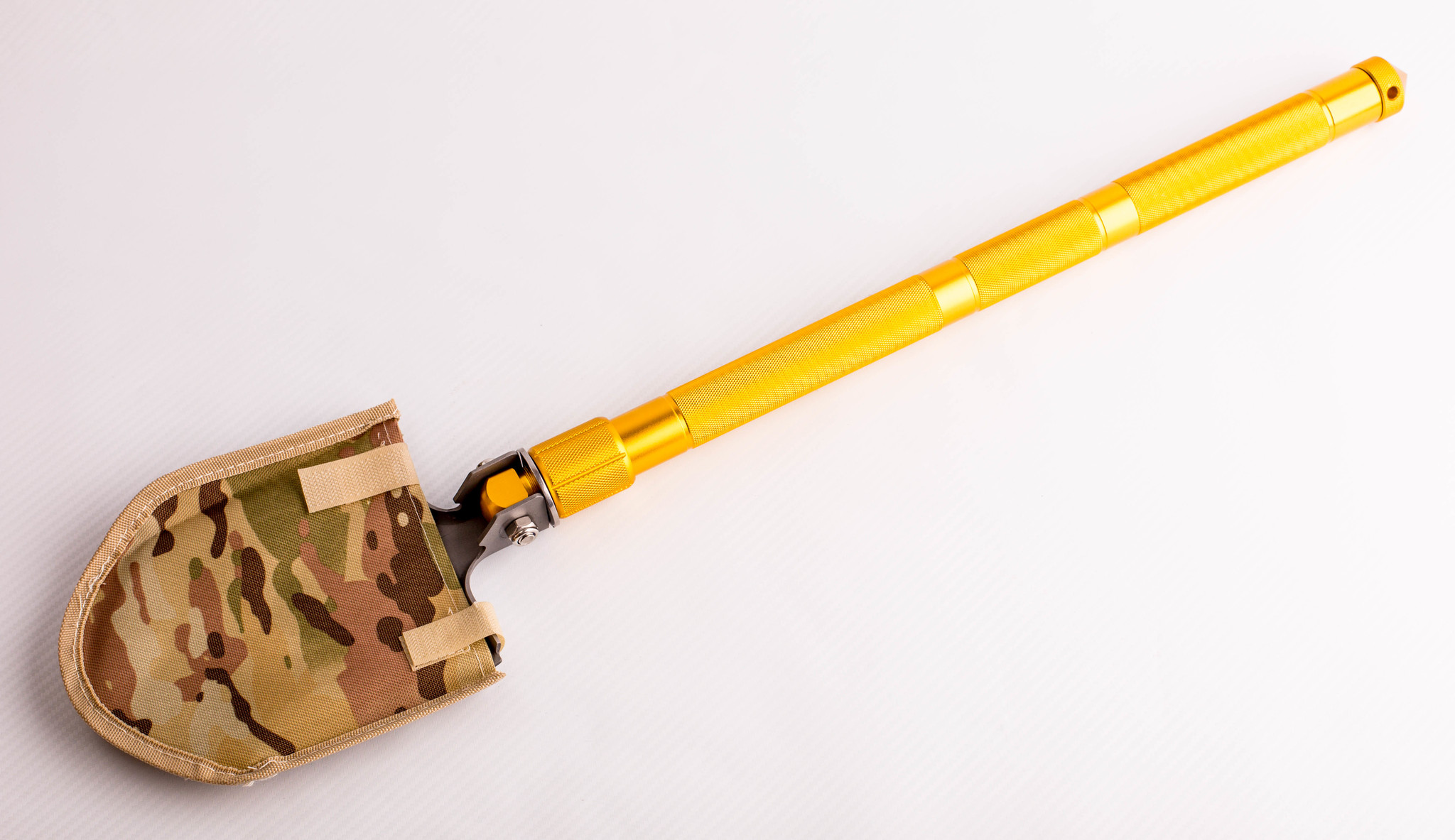 Фото 13 - Многофункциональная лопата, золотистая рукоятка от Noname