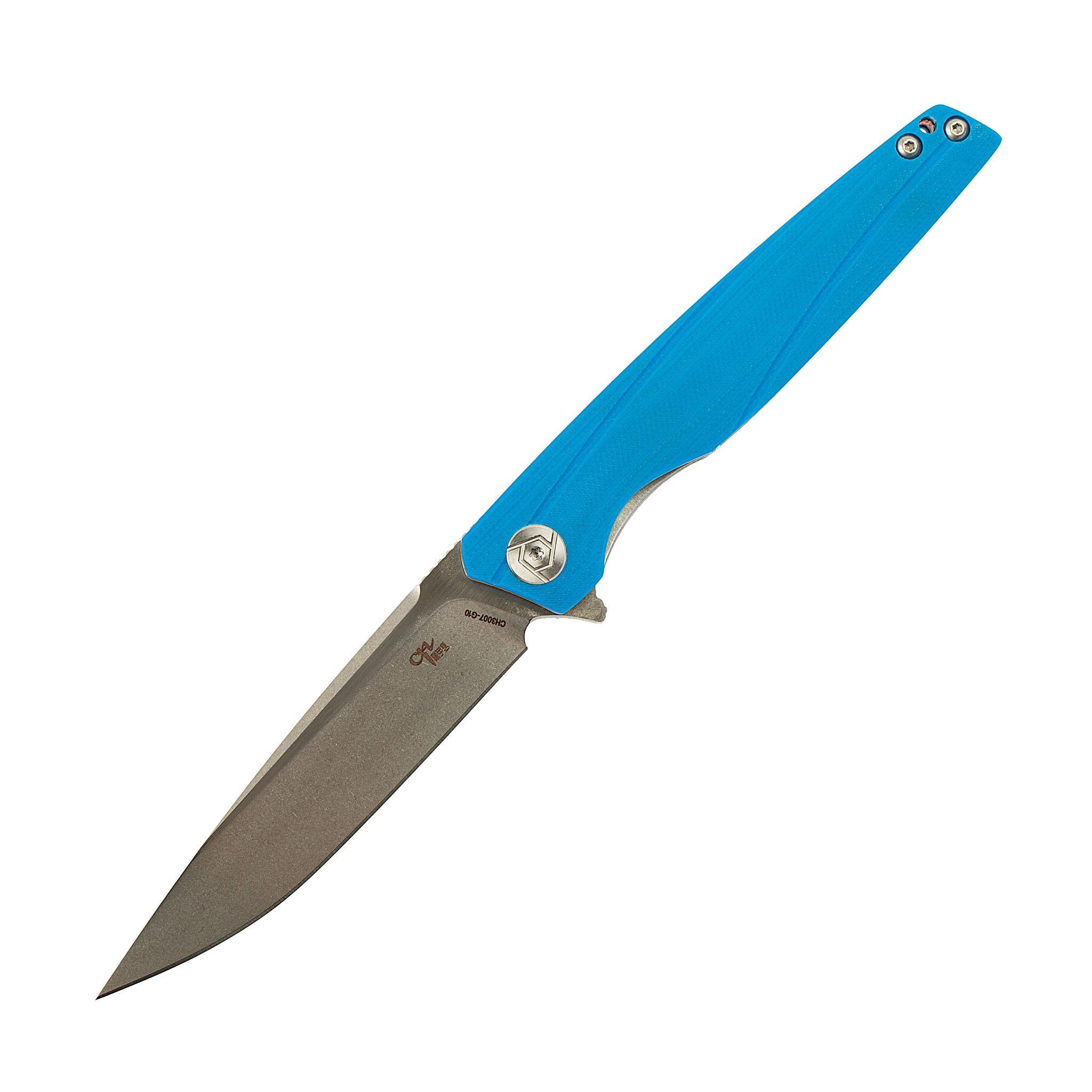 Складной нож CH3007 синий, сталь D2, рукоять G10 от ch outdoor knife