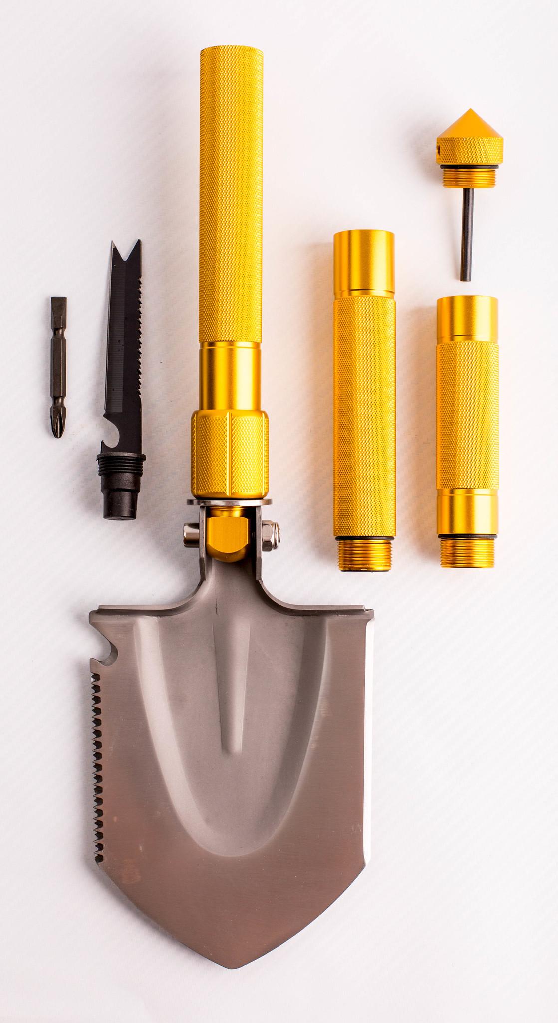 Многофункциональная лопата, золотистая рукоятка от Noname