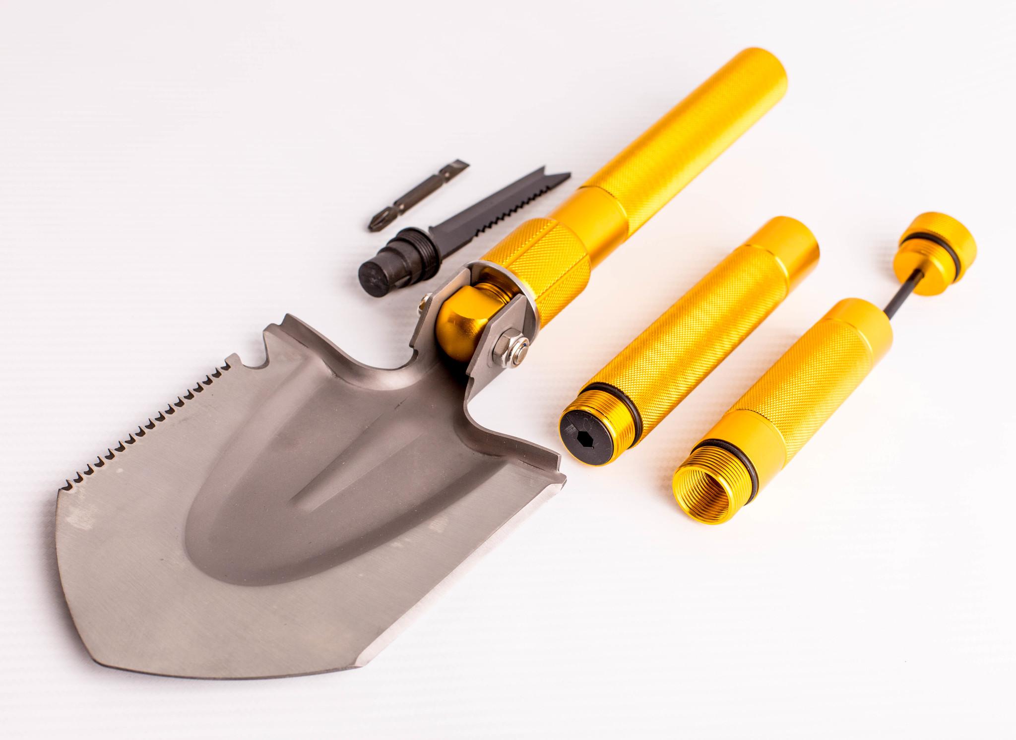 Фото 18 - Многофункциональная лопата, золотистая рукоятка от Noname