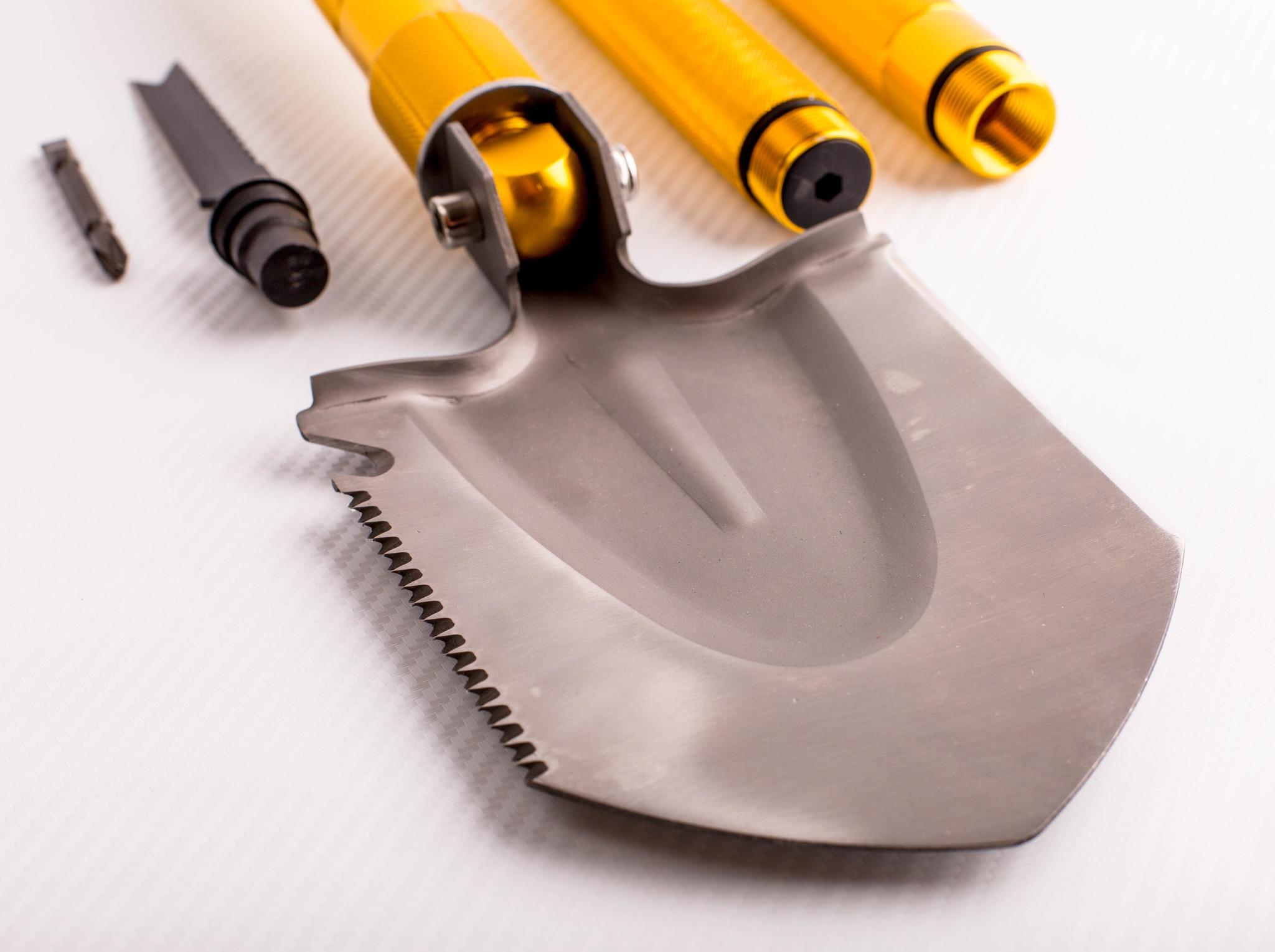 Фото 20 - Многофункциональная лопата, золотистая рукоятка от Noname