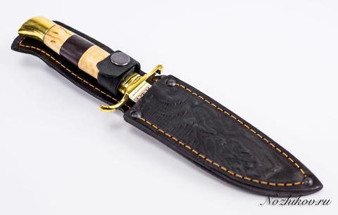 Нож Финка НКВД, сталь 95х18, полосатая рукоять. Вид 6