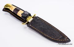 Нож Финка НКВД, сталь 95х18, полосатая рукоять, фото 6