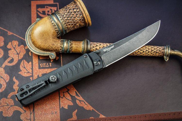 Складной нож Whisper D2 TW Black, Kizlyar Supreme