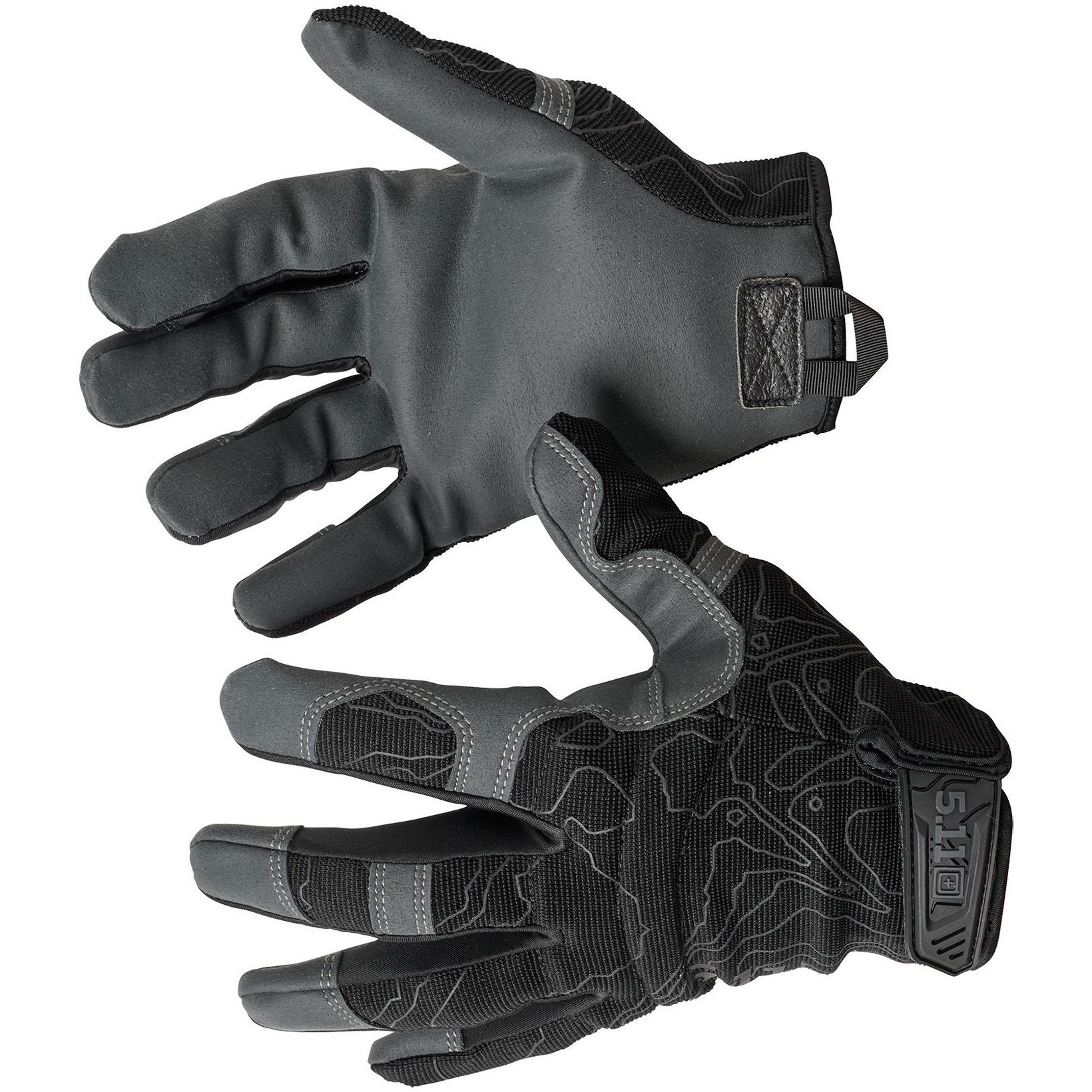 Тактические перчатки High Abrasion Black, 5.11 Tactical