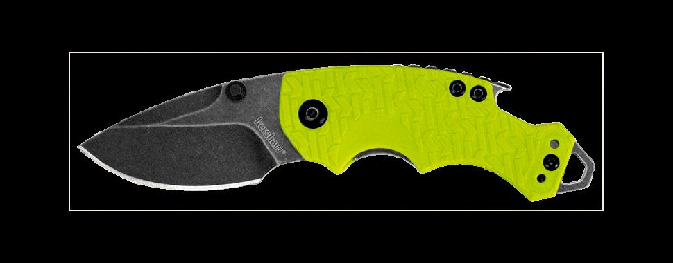 Фото 4 - Нож складной Shuffle - KERSHAW 8700LIMEBW, сталь 8Cr13MoV c покрытием BlackWash™, рукоять текстурированный термопластик GFN зелёного цвета