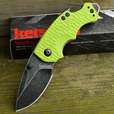 Фото 8 - Нож складной Shuffle - KERSHAW 8700LIMEBW, сталь 8Cr13MoV c покрытием BlackWash™, рукоять текстурированный термопластик GFN зелёного цвета