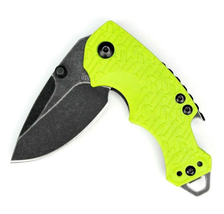 Фото 9 - Нож складной Shuffle - KERSHAW 8700LIMEBW, сталь 8Cr13MoV c покрытием BlackWash™, рукоять текстурированный термопластик GFN зелёного цвета