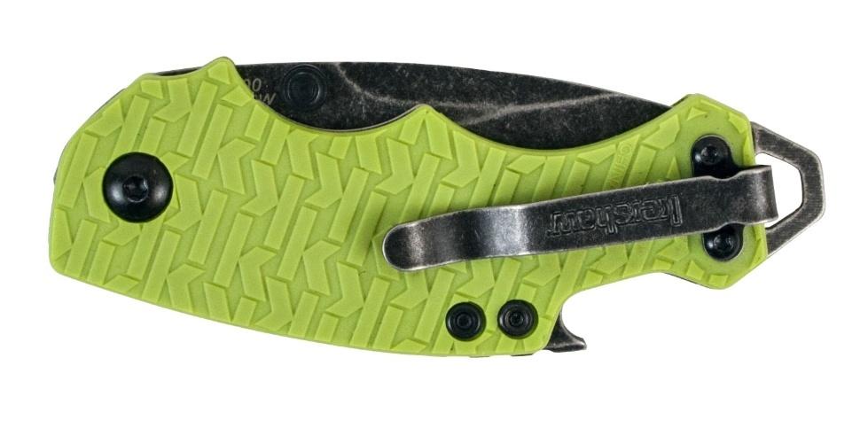 Фото 11 - Нож складной Shuffle - KERSHAW 8700LIMEBW, сталь 8Cr13MoV c покрытием BlackWash™, рукоять текстурированный термопластик GFN зелёного цвета