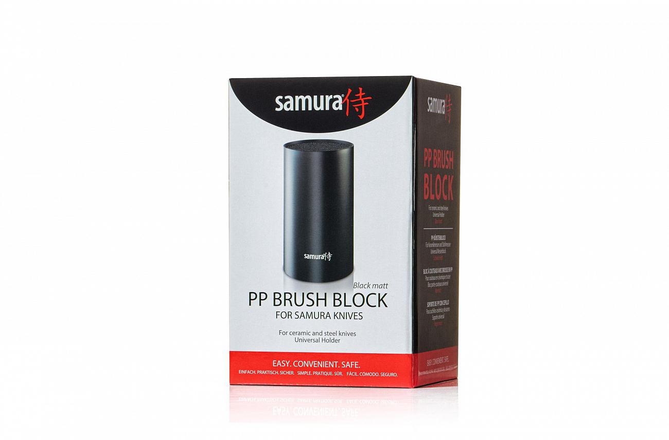 Фото 4 - Подставка универсальная для ножей Samura - KBF-102, чёрный пластик, 180 мм