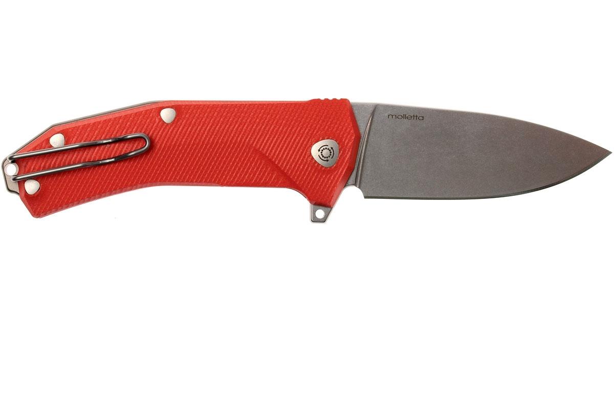 Фото 11 - Нож складной LionSteel KUR OR G10 Orange Flipper, сталь Uddeholm Sleipner®, стеклотекстолит, оранжевый от Lion Steel