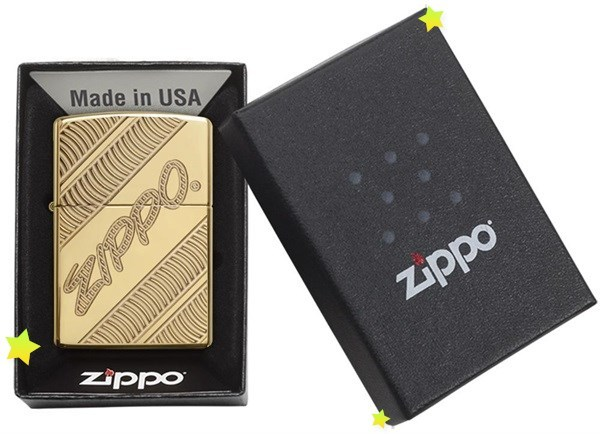 Зажигалка ZIPPO Armor® с покрытием High Polish Brass, латунь/сталь, золотистая, 36x12x56 мм