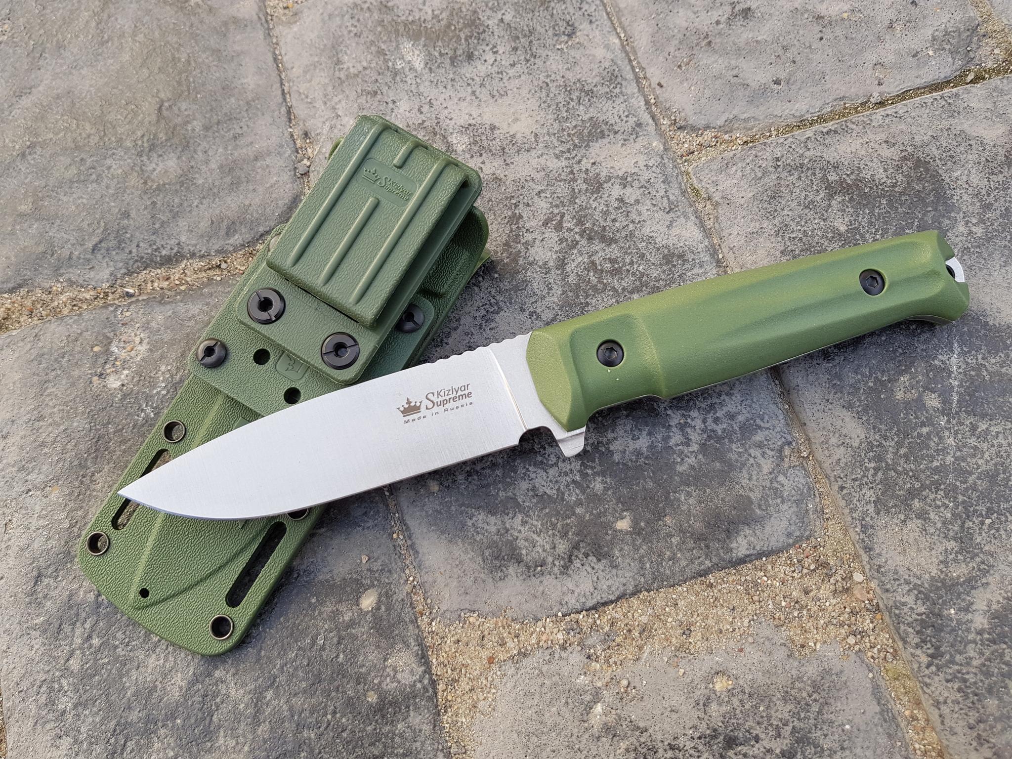 Фото 28 - Тактический нож Sturm AUS-8 S BS SW олива, Кизляр от Kizlyar Supreme