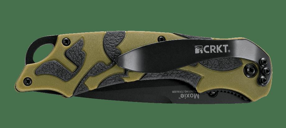 Фото 14 - Полуавтоматический складной нож Moxie Green, CRKT 1101, сталь 8Cr14MoV Black Oxide, рукоять термопластик/резина, зеленый