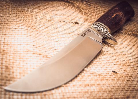 Нож Лесник, карельская береза, сталь ELMAX. Вид 2
