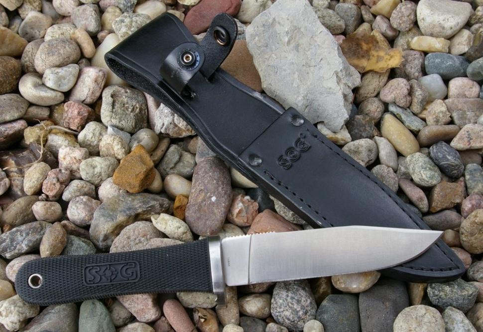 Фото 12 - Нож с фиксированным клинком NW Ranger 13.3 см. - SOG S240R, сталь AUS-8, рукоять Kraton® резина