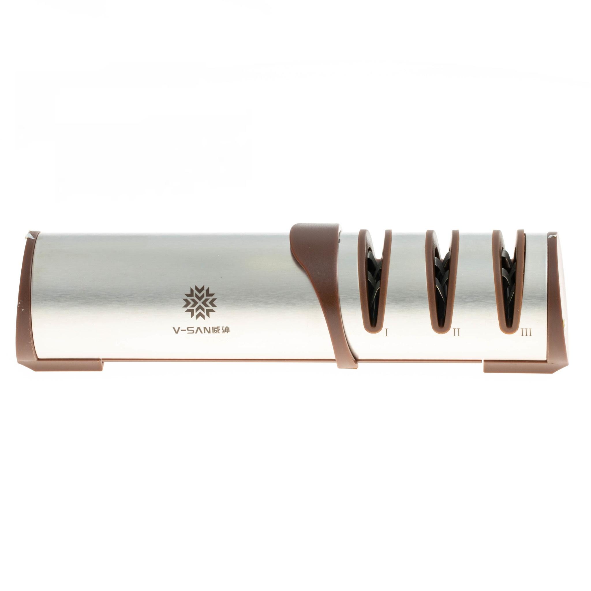 Фото - Точилка кухонная для заточки ножей Шеф-5, Viking Nordway точилка для ножей attribute 27х27х14 5 см