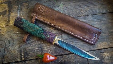 Авторский якутский нож из стали Х12МФ , большой - Nozhikov.ru