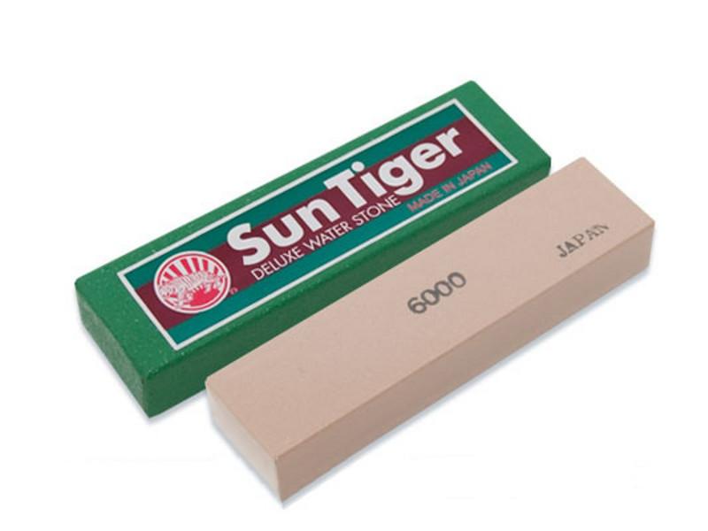 Камень точильный водный 100*25*15мм финишный компактный #6000, Suntiger