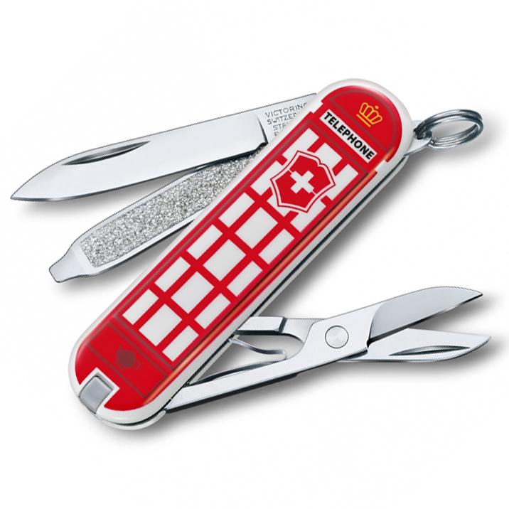 Нож перочинный Victorinox Classic A Trip to London, сталь X55CrMo14, рукоять Cellidor®