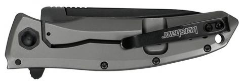 Складной полуавтоматический нож Kershaw Grid K2200, сталь 8Cr13MoV, рукоять нержавеющая сталь. Вид 3