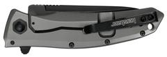 Складной полуавтоматический нож Kershaw Grid K2200, сталь 8Cr13MoV, рукоять нержавеющая сталь, фото 3