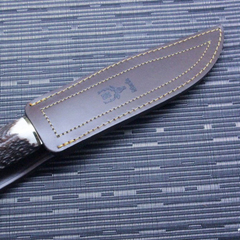 Нож с фиксированным клинком Muela Sarrio, сталь X50CrMoV15, рукоять олений рог, фото 2